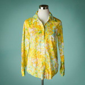 Boden 8 Yellow Floral  The Casual Shirt